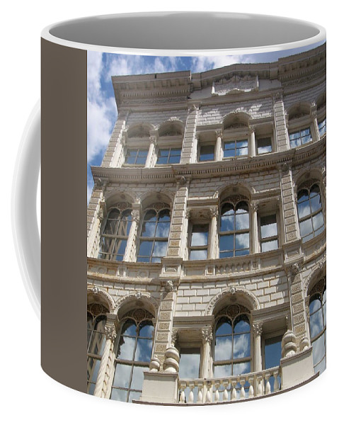 Milwaukee Coffee Mug featuring the photograph Milwaukee Cloud Reflections by Anita Burgermeister