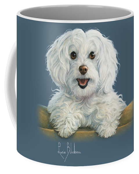 Dog Coffee Mug featuring the painting Mimi by Lucie Bilodeau