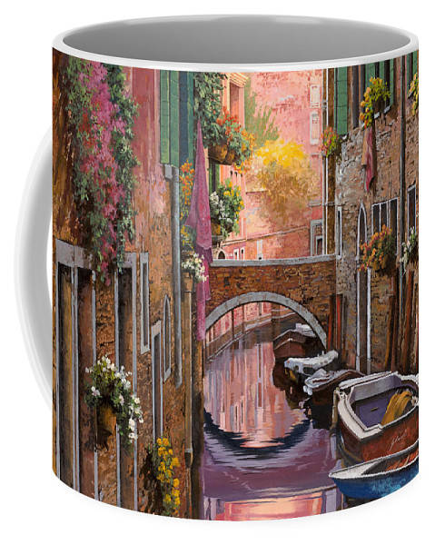 Venice Coffee Mug featuring the painting Mimosa Sui Canali by Guido Borelli