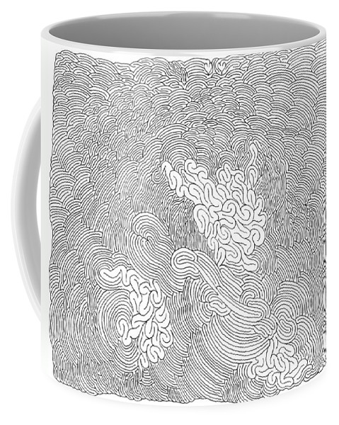 Mazes Coffee Mug featuring the drawing Mind Games by Steven Natanson