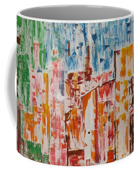 Abstract Coffee Mug featuring the painting Mind Meadow by Denise Morgan