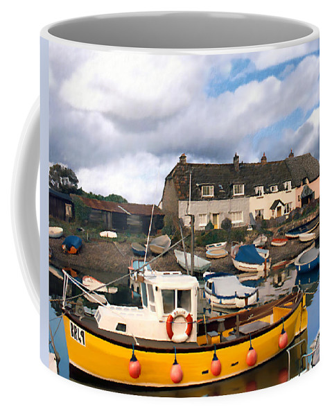 Harbor Coffee Mug featuring the photograph Minehead Sommerset by Kurt Van Wagner