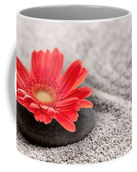 Zen Coffee Mug featuring the photograph Mineral Flower by Delphimages Photo Creations