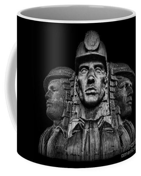 Bargoed Coffee Mug featuring the photograph Miners In The Dark by Steve Purnell