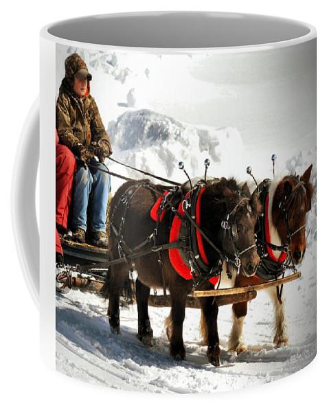 Animals Coffee Mug featuring the photograph Mini Draft Ponies by Sandra Huston