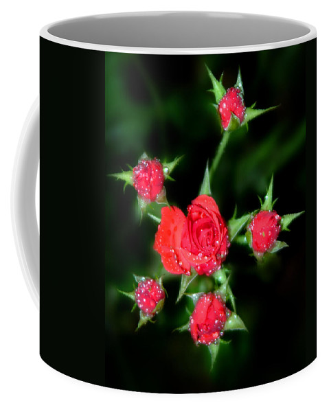 Roses Coffee Mug featuring the photograph Mini Roses by Anthony Jones