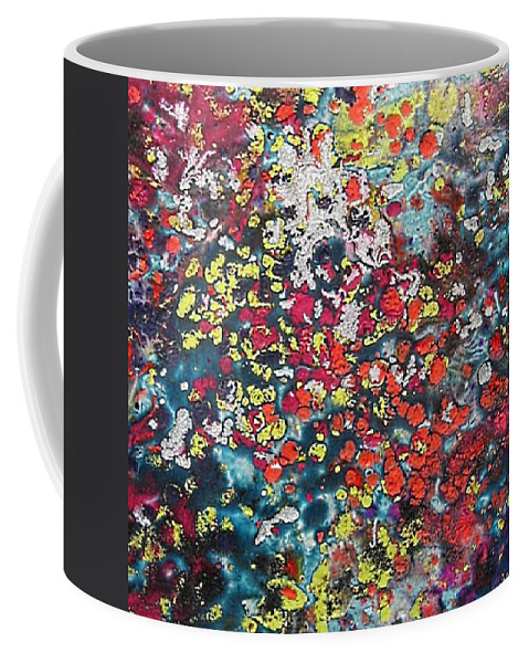 Mini Roses Coffee Mug featuring the painting Mini Roses by Dragica Micki Fortuna