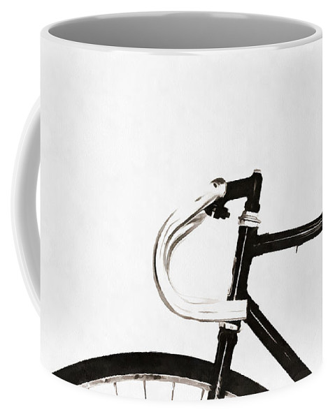 Minimalist Coffee Mug featuring the photograph Minimalist Bicycle Painting by Edward Fielding