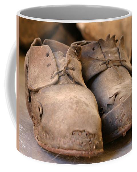 Mining Coffee Mug featuring the photograph Mining Shoes Langban Sweden by Dagmar Batyahav