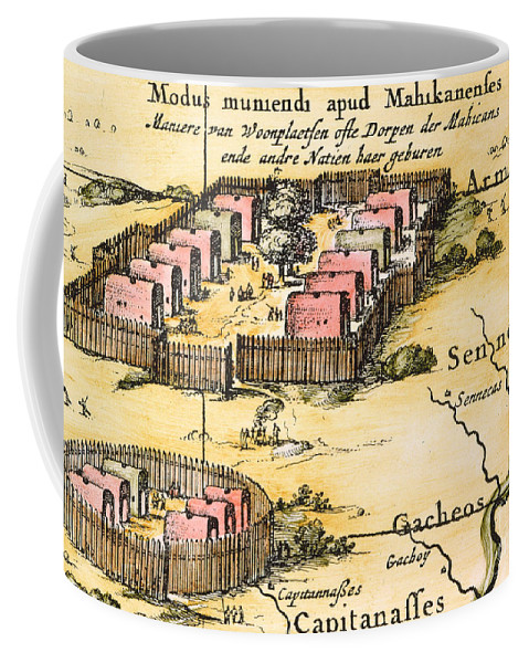 1650s Coffee Mug featuring the photograph Minisink Village, 1650s by Granger