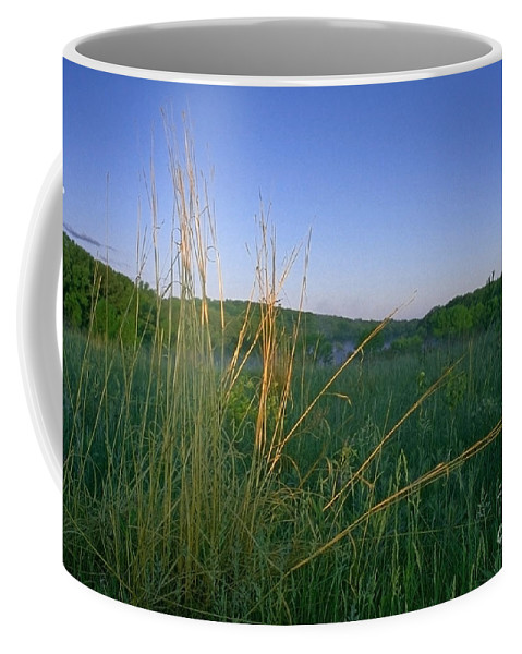 Prairie Coffee Mug featuring the photograph Minnesota Prairie Moon Rise by Sven Brogren