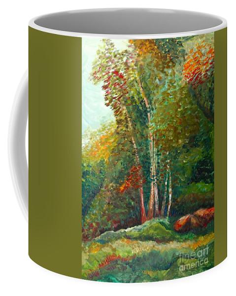 Landscape Coffee Mug featuring the painting Minnesota Quartet by Nadine Rippelmeyer