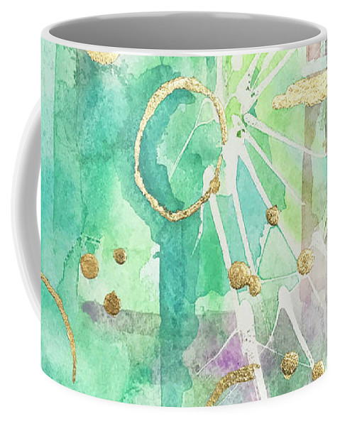 Mint Watercolor Coffee Mug featuring the painting Mint Bling by Roleen Senic