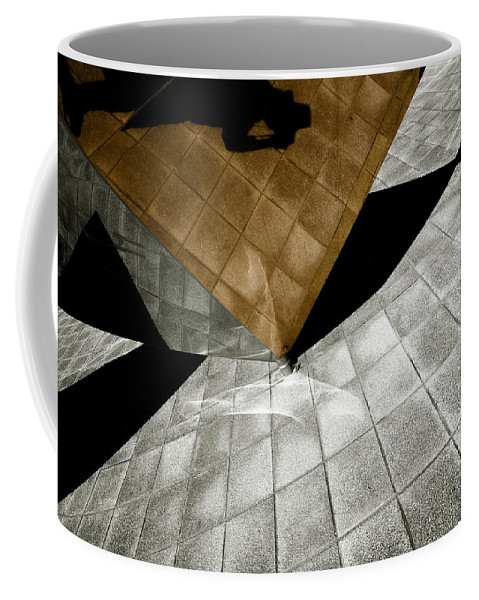 Sculpture Coffee Mug featuring the photograph Mirror Act by Wayne Sherriff