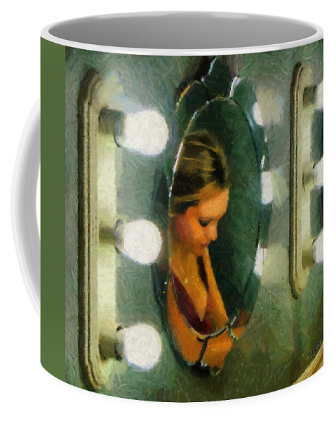 Bridesmaid Coffee Mug featuring the painting Mirror Mirror On The Wall by Jeffrey Kolker
