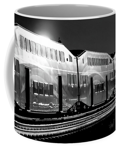 Digital Black And White Photo Coffee Mug featuring the photograph Mirror Of The Winter Sun Bw by Tim Richards