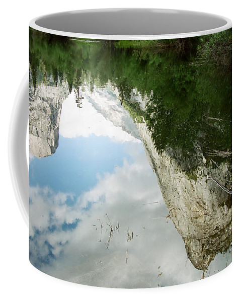 Mirror Lake Coffee Mug featuring the photograph Mirrored by Kathy McClure
