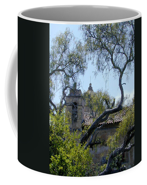 Mission Coffee Mug featuring the photograph Mission At Carmell by Douglas Barnett