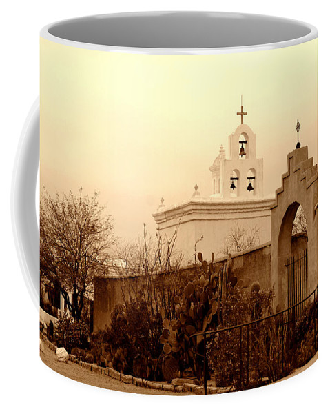 Photography Coffee Mug featuring the photograph Mission San Xavier Chapel by Susanne Van Hulst