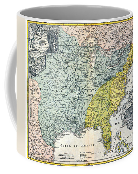 1687 Coffee Mug featuring the photograph Mississippi Region, 1687 by Granger