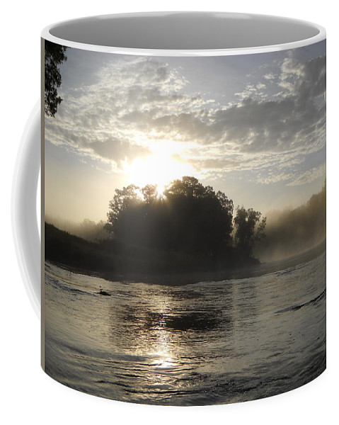Mississippi River Coffee Mug featuring the photograph Mississippi River June Sunrise Reflection by Kent Lorentzen