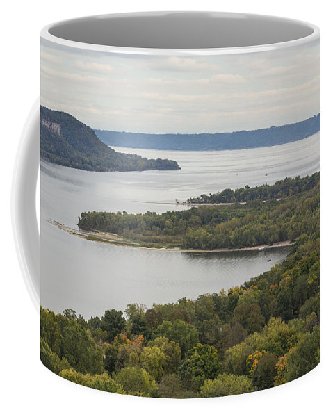 River Coffee Mug featuring the photograph Mississippi River Lake Pepin 7 by John Brueske