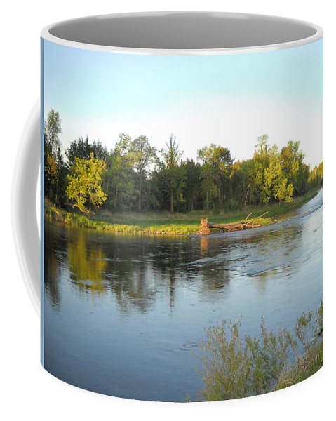 Mississippi River Coffee Mug featuring the photograph Mississippi River Lovely Dawn Light by Kent Lorentzen