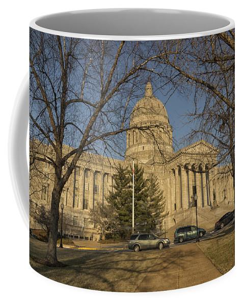 Missouri Coffee Mug featuring the photograph Missouri Capital Building Jefferson City Dsc00653 by Greg Kluempers
