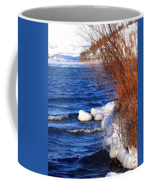 Kalamalka Coffee Mug featuring the photograph Mist On Kalamalka by Will Borden