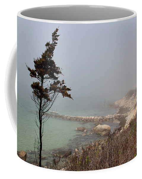 Falmouth Coffee Mug featuring the photograph Misty Beach by Lennie Malvone