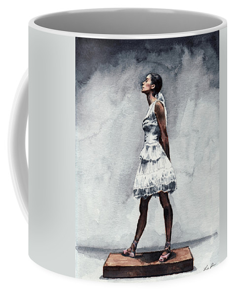 Misty Copeland Coffee Mug featuring the painting Misty Copeland Ballerina As The Little Dancer by Laura Row
