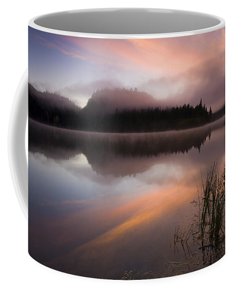 Sunrise Coffee Mug featuring the photograph Misty Dawn by Mike Dawson