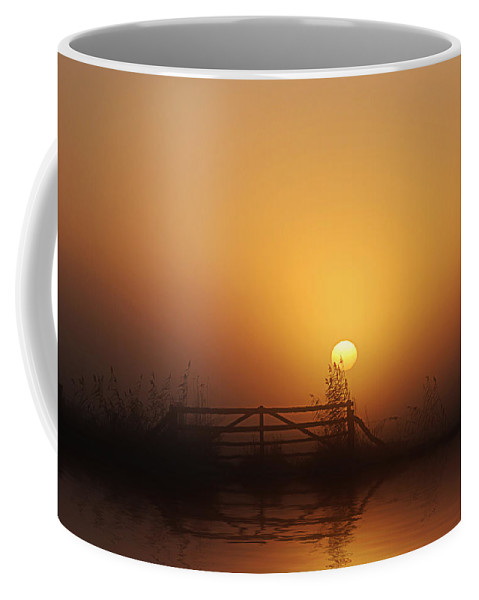 Daybreak Coffee Mug featuring the photograph Misty Daybreak by Joachim G Pinkawa