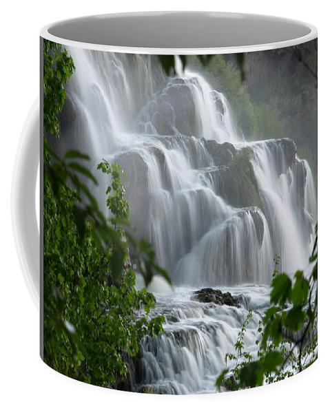 Waterfalls Coffee Mug featuring the photograph Misty Falls by DeeLon Merritt