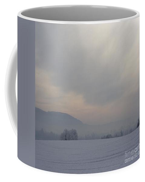 Winter Coffee Mug featuring the photograph Misty Frosty Day by Angel Ciesniarska