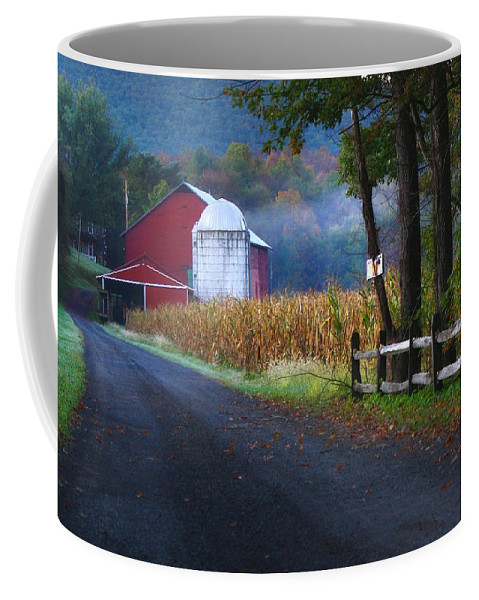 Farm Coffee Mug featuring the photograph Misty Lavelle by Lori Deiter