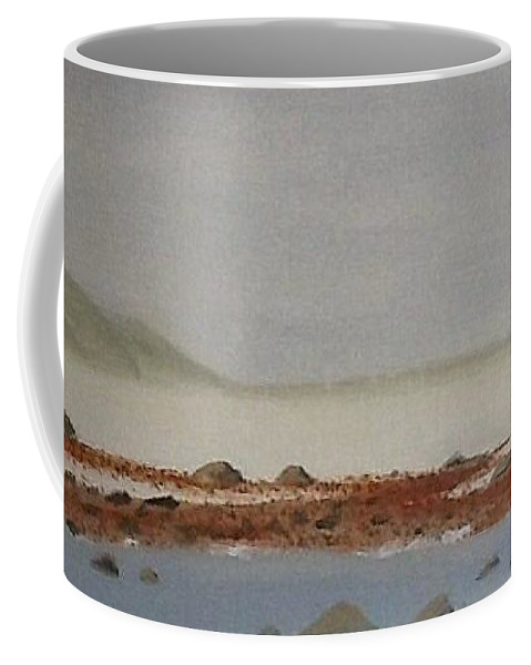 misty Morn Oil On Canvas. Seascape. Rocks Coffee Mug featuring the painting Misty Morn by June Orr