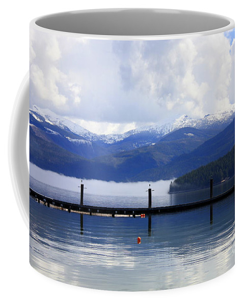 Priest Lake Coffee Mug featuring the photograph Misty Morning On Priest Lake by Carol Groenen