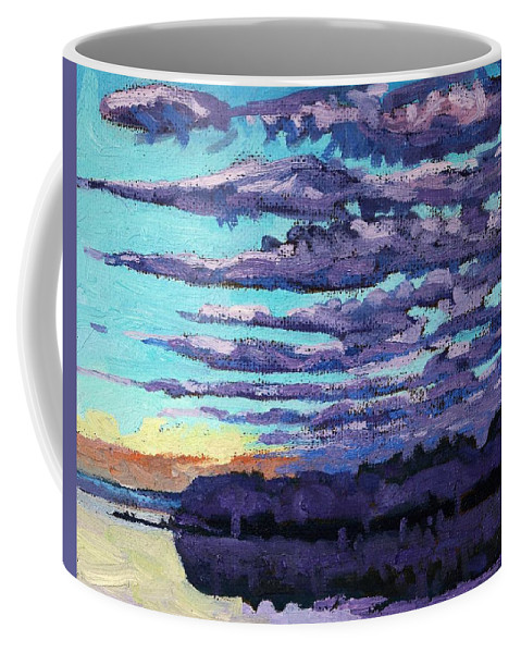 Spring Coffee Mug featuring the painting Misty Morning by Phil Chadwick