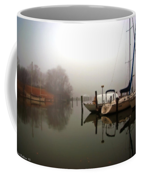 2d Coffee Mug featuring the photograph Misty Reflections by Brian Wallace