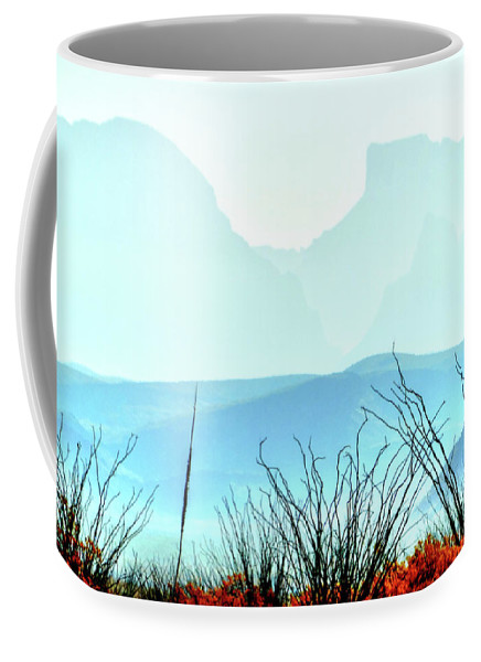 Big Bend National Park Coffee Mug featuring the photograph Mistymorning Window by Mike Ziegler