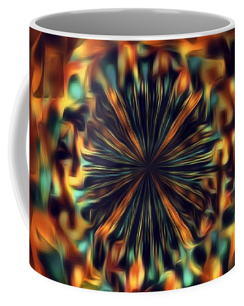 Abstractor Coffee Mug featuring the digital art Mix It Up by Jenn Teel