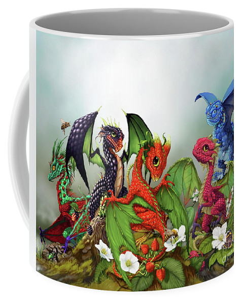 Dragons Coffee Mug featuring the digital art Mixed Berries Dragons by Stanley Morrison