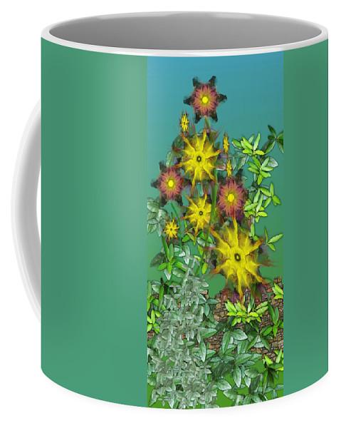 Flowers Coffee Mug featuring the digital art Mixed Flowers by David Lane