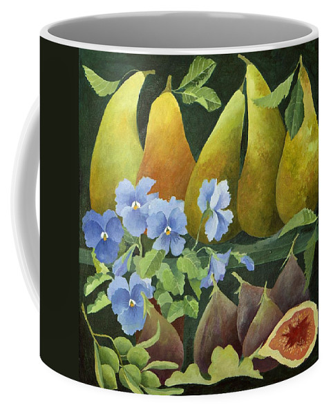 Pear Coffee Mug featuring the painting Mixed Fruit by Jennifer Abbot