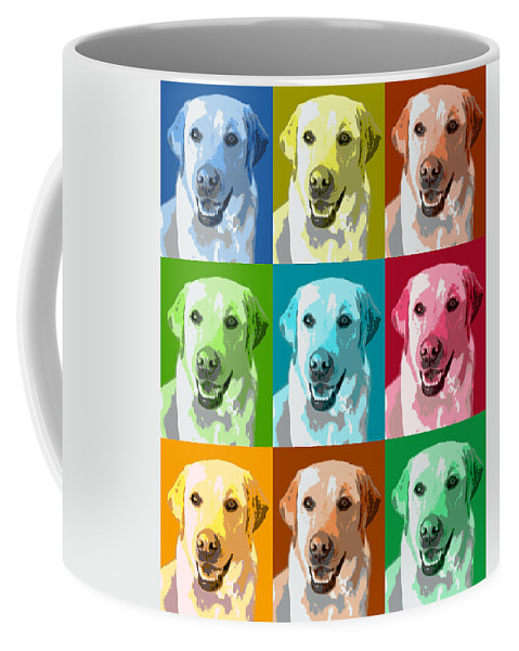 Americana Coffee Mug featuring the photograph Golden Retriever Warhol by Marilyn Hunt