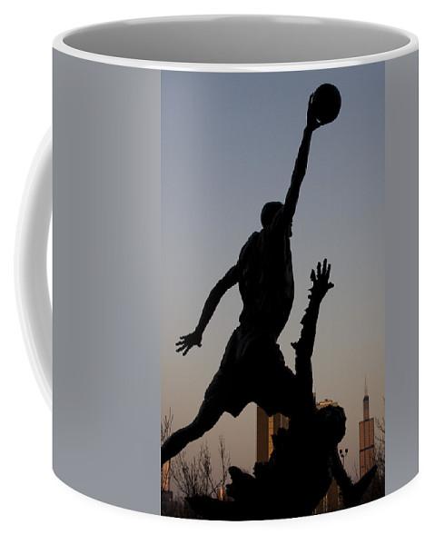 Chicago United Center Mj Micheal Jordan 23 Dark Basketball Coffee Mug featuring the photograph MJ by Andrei Shliakhau