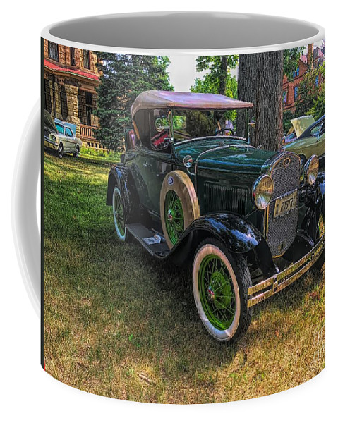 Model A Ford Coffee Mug featuring the photograph 1928 Model A Ford by Luther Fine Art