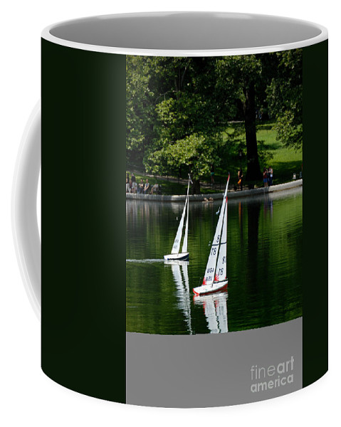 Boat Coffee Mug featuring the photograph Model Boats Central Park New York by Amy Cicconi