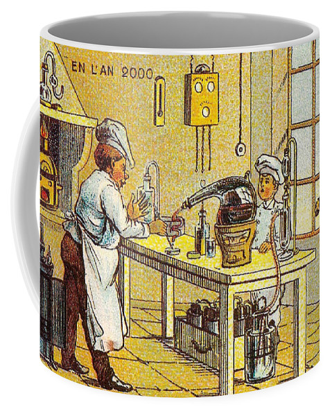 Science Coffee Mug featuring the photograph Model Kitchen, 1900s French Postcard by Science Source